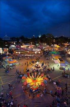 """""""Kiddie Midway rides at 2011 CNE. It started to rain a few minutes after this."""""""