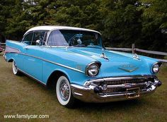 1957 Chevy Bel Air...... one of our family vehicles.
