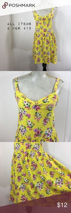 "Aeropostale Light Floral Slip Mini Dress Preowned condition. No stains or holes. Normal wash and wear.             Tag Size: juniors extra large.              Bust Flat: 18"". Waist: 14"".  Length: 34"".   Form fitting and stretchy.                   Please go off measurements and NOT Tag Size. Sizes differ from company to company. I 💜questions! Please ask any and all questions before purchasing.   Thanks! ~Rag Time Machine.~ Aeropostale Dresses Mini"