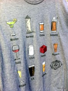 I'd really like to have this Drink Around the World shirt. And to celebrate getting it, I think a trip to Disney and a spin around EPCOT's world showcase would be in order.