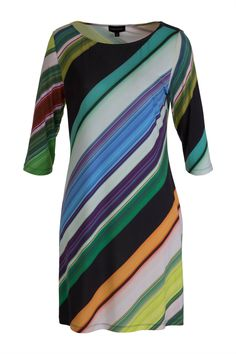 Howard Showers Sophie Lime Splice Tunic - Womens Knee Length Dresses - Birdsnest Clothing Online