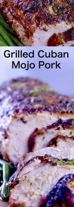 Juicy, tender, with hints of garlic and citrus this Grilled Cuban Mojo Pork Roast Recipe is an easy, yet impressive meal to serve for company. Grilling Season Recipes continue with this recipe for Grilled Cuban Mojo Pork Roast. Pork Roast Recipes, Grilling Recipes, Meat Recipes, Mexican Food Recipes, Cooking Recipes, Recipes Dinner, Healthy Grilling, Game Recipes, Grill Meals