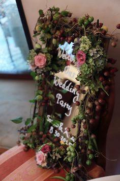夏の装花 ラ・ビュット・ボワゼ様へ 小高い丘、樹木に囲まれての画像:一会 ウエディングの花