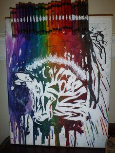 more crayon on canvas