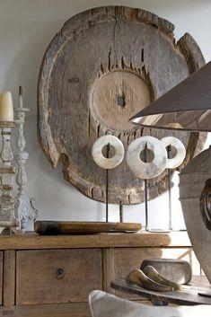 modern rustic decor accessories, wood sculptures