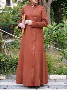 i adore this. Modest Fashion Hijab, Modesty Fashion, Abaya Fashion, Fashion Dresses, Islamic Fashion, Muslim Fashion, Hijab Gown, Modele Hijab, Hijab Style