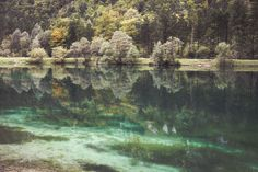 the Bluntau lakes are beautifully green and sheltered from wind leading to stunning reflections Lakes, Shelter, Green, Photography, Painting, Beauty, Art, Art Background, Photograph