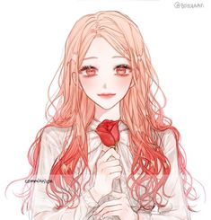 보이차 BOYCHAAA (@BOYCHAAA) | Twitter Cool Anime Girl, Pretty Anime Girl, Beautiful Anime Girl, Anime Art Girl, Anime Love, Manga Girl, Chica Anime Manga, Anime Angel, Anime Style