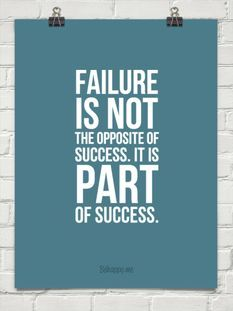 Citations Réussite & Succes Description Failure is not the opposite of success. It is part of success. Great Quotes, Quotes To Live By, Awesome Quotes, Quirky Quotes, Motivational Quotes, Inspirational Quotes, Positive Quotes, Profound Quotes, Positive People