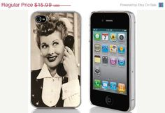 October Lucky 13 Sale iPhone 4 or 4s Hard Case Phone Cover - Lucille Ball (I Love Lucy)