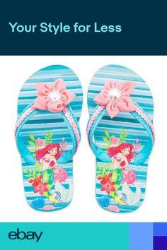 7a7bd81df727 Disney Authentic Princess Ariel Flip Flops Girls Sandals 78 910 1112 131 23