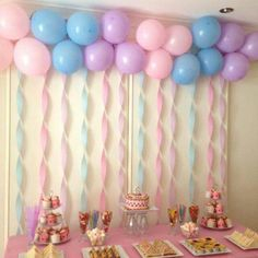 Girls Tea Party Birthday   Balloons And Streamers