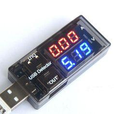 Dual USB Current Voltage Charger Detector battery Tester Voltmeter Ammeter