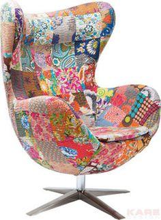Kare design :: Fotel obrotowy Lounge Flower Surprise