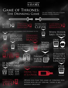 The Epic 'Game of Thrones' Drinking Game   The Savory