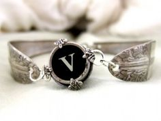 Customized Victorian Antique Typewriter Key Spoon by qacreate