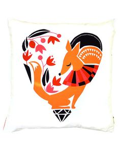 Darling Clementine Florence The Fox Cushion cover