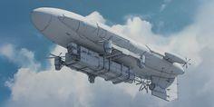 ArtStation - Bangkok XXIII - Airship Cargo, Julien Gauthier