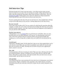 Job interview tips by Job Interview Tips via slideshare