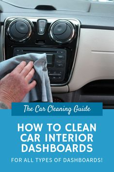 It doesn't take long for your dashboard to become dirty, so it's important to have a quick and effective cleaning method to save your time and energy. Best Car Interior, Car Cleaning Hacks, Clean Your Car, Dashboards, Performance Cars, Small Cars, Car Wash, Car Detailing, Super Cars