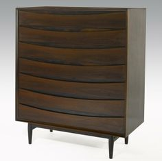Arne Vodder; Rosewood Chest of Drawers for Sibast, 1950s.