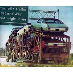 Old car Hauler movin some Detroit Iron