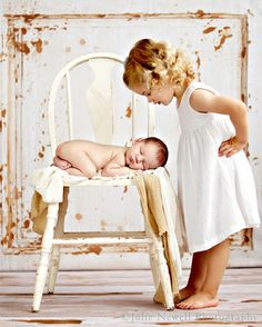 Big sister and newborn session. Very cute.
