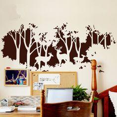 Deer art nursery wall decal