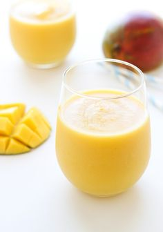 Immunity Defense Smoothie by makingthymeforhealth Mango, orange, pineapple and almond milk