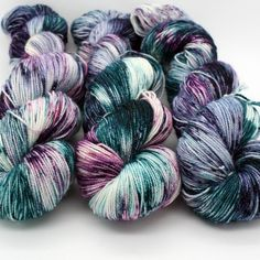 Crochet Yarn, Knitting Yarn, Yarn Color Combinations, Yarn For Sale, Yarn Cake, Yarn Inspiration, Yarn Stash, Sock Yarn, Hand Dyed Yarn
