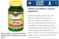 Lose Fat Belly Fast L Arginine Helps Reduce Belly Fat Increase