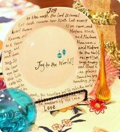 Easy DIY Christmas Carol Plates