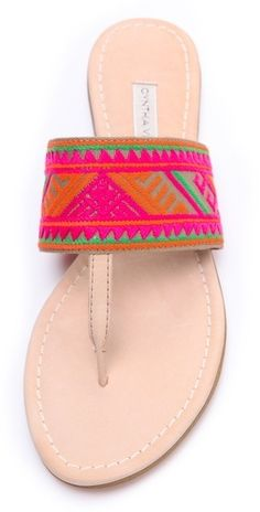by Cynthia Vincent Love Embroidered Thong Sandals Cute Shoes, On Shoes, Me Too Shoes, Shoe Boots, Shoes Sandals, Neon Sandals, Boho Sandals, Ankle Boots, Heels