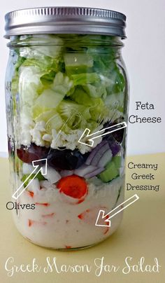 Greek Salad in Mason Jar: Instructions and Tips on Packing a Salad in a Jar