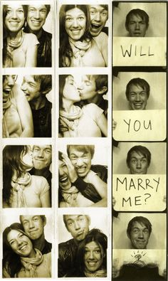 Cute photobooth proposal