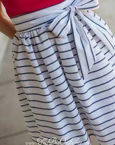 Gratis Damen Schnittmuster - High-Waisted Sash Skirt