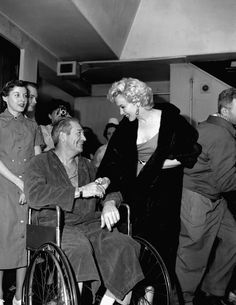 It's from when Marilyn went to visit the American troops in a Tokyo hospital.