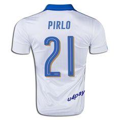 2016 UEFA Euro Italy Andrea Pirlo 21 Youth Away Soccer Jersey