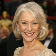 Face-Framing Streaks  Sixty-five-year-old Helen Mirren knows you're never too old to try the latest trend, as long as you make it work for you. She rocked these face-framing highlights that brought out her swooping bangs at the 27th Annual Academy Awards in 2007.    Read more: Hairstyles for Women Over 50 - Pictures of Celebrity Hairstyles for Over 50 - Real Beauty