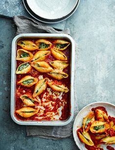 Stuffed Pasta Shells Recipe with Spinach and Ricotta Fill giant pasta shells with creamy ricotta and spinach for a simple vegetarian meal on the table in under an hour