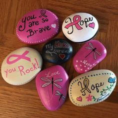 Image result for painted rocks breast cancer