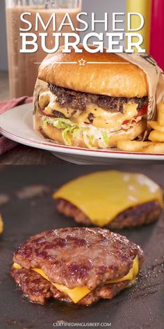 Smashed Burger - - Smashed Burger Burger and Hot Dog Recipes The secret to a juicy and delicious cheeseburger is a simple homemade burger sauce. Make the best classic smashed burger with this easy, step-by-step recipe. Dog Food Recipes, Cooking Recipes, Healthy Grilling Recipes, Vegetarian Barbecue, Gourmet Foods, Tofu Recipes, Pudding Recipes, Shrimp Recipes, Salmon Recipes