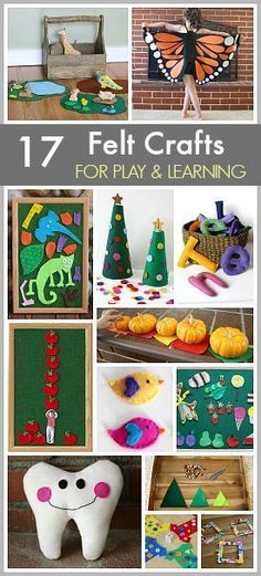 17 DIY Felt Crafts to Make: Felt Toy and Activity Tutorials- most are no-sew and make great homemade gifts or keepsakes too! ~ http://BuggyandBuddy.com