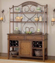 Hillsdale Villagio Server And Hutch in Dark Chestnut Furniture Sale, Dining Room Furniture, Suburban Furniture, Ladder Back Chairs, Buffet Server, Hillsdale Furniture, China Cabinet, Home Kitchens, Home Furnishings