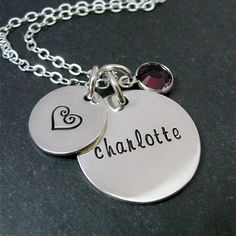 Personalized Mother's Necklace  Custom Hand Stamped by CandaceKane