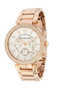 Michael Kors MK5491 Parker Chronograph (Rose Gold IP) Analog Watches - Michael Kors, MK5491 Parker Chronograph, MK5491, Accessories Watches Women's Water Resistant, Analog, Watches, Jewelry, Gift, - Street Fashion And Style Ideas