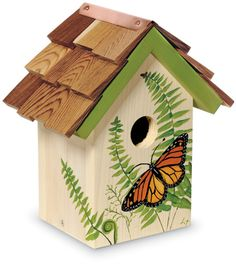 7011: Handpainted Monarch Birdhouse (Product Detail)