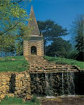 The Stanway Watergarden at Stanway House and Fountain in the Cotswolds is one of the finest in England and was created in the 1720s