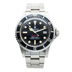 Rolex Stainless Steel Double Red Sea Dweller Mark III Wristwatch Ref 1665 | From a unique collection of vintage wrist watches at http://www.1stdibs.com/jewelry/watches/wrist-watches/