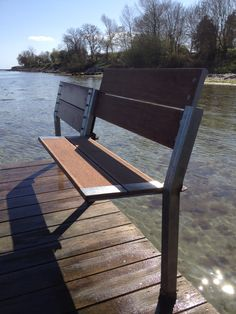 """Outdoor bench (note the folded section to keep """"foreign elements"""" off when not in use)"""